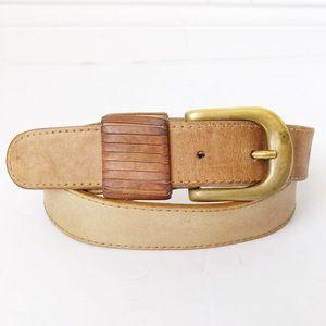 DKNY • Oak Tan Italian Leather Belt